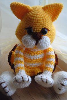 Amigurumi crochet cat Kitty