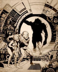 Frank Frazetta's Cover Art For Buck Rogers - 1953