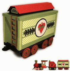 Silhouette Design Store - View Design #70975: train 3d cargo box car