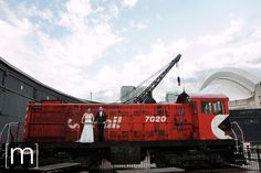 Posing in front of the trains July 24, Brewery, Real Weddings, Trains, Poses