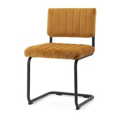 By Boo Tufted Velvet Side Chair in Red Upholstery Color: Yellow Tufted Dining Chairs, Bar Chairs, Side Chairs, Mobile Bar, Chair Upholstery, Mid Century Modern Design, Floor Chair, Outdoor Chairs, Bakery Design