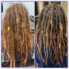 Before & After #dreadlocks #caucasiandreadlocks #georgiadreadheads #dreadlockmaintenance #dreadlocksinsuwanee #professionaldreadlocks #dreads