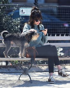 Dakota Johnson out shopping with Zepp in NY - 11 April 2015