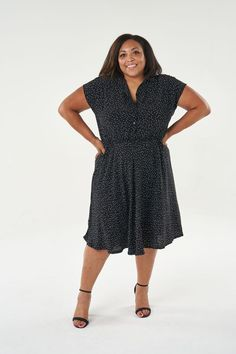 Great news, our popular Penny Dress sewing pattern is now available in our extended size range UK 6-30!