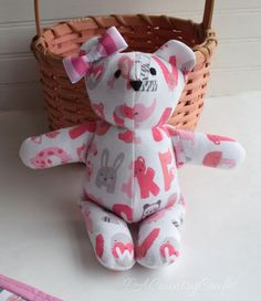 stuffed bear from baby clothes