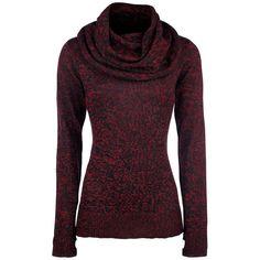 Jersey Melange Pullocer de Black Premium by EMP:  - Melange - De punto - Gran cuello tortuga - Espalda con cordones - Agujeros para los pulgares