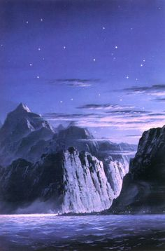 Ted Nasmith - The Light of Valinor on the Western Sea