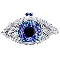 Swarovski Crystal Eye Clutch Bag