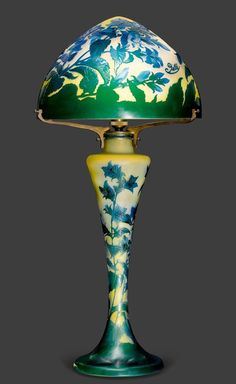 another beautiful lamp to add to my dream house ... coming right up ... EMILE GALLE TABLE LAMP, ca. 1900