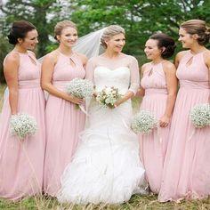 Charming A-line Floor-length simple round neck pink chiffon cheap bridesmaid dresses , BD0437#bridesmaids #bridesmaiddress #bridesmaiddresses #dressesformaidofhonor #weddingparty #2020bridesmaiddresses Simple Bridesmaid Dresses, Wedding Dresses, Bridesmaids, Famous Brands, Dream Dress, Dress Making, Bodice, Backless, Shoulder Dress