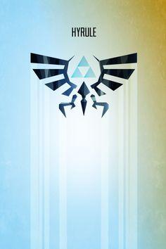 Hyrule Rising. Legend of Zelda Vector Poster.