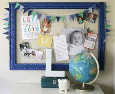 frames, bulletin boards, chicken wire, boy rooms, nurseri