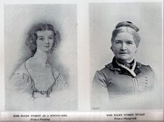 Ellen Nussey, Charlotte Bronte's best friend, as a girl and in a photograph from later in life.