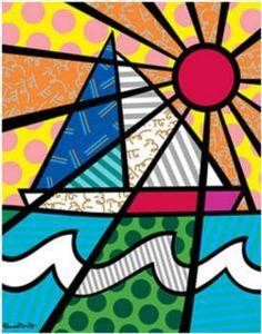 Sailboat by Romero Britto (12 pieces)