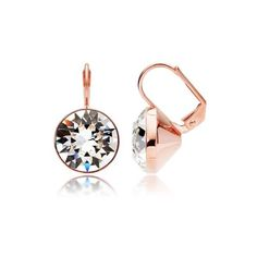 Earrings with Clear Swarovski Crystals Rose Gold ❤
