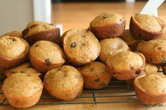 pumpkin/sweet potato chocolate chip muffins ○ via the frugal girl