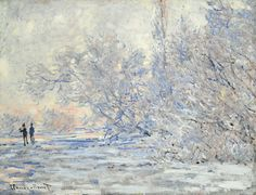 Claude Monet: Le Givre a Giverny 1885