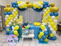 Baby Ducks baby shower Baby Shower Decorations For Boys, Boy Baby Shower Themes, Baby Shower Printables, Baby Shower Parties, Baby Shower Invitations, Rubber Ducky Party, Rubber Ducky Baby Shower, Baby Shower Duck, Baby Boy Shower