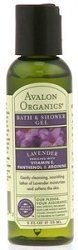 Avalon Organics - Lavender Bath & Shower Gel - Organics Trial Size 2 oz by Avalon. $3.49. Avalon Organic Botanicals offers a collection of their most popular products in convenient carry along trial sizes. Perfect for travel, for gifts, or to take to the gym. UPC: 654749354742 Front Label Panel: Avalon Organics Bath & Shower Gel Lavender Enriched With Vitamin E Panthenol & Arginine Gently Cleansing, Nourishing Lather Of Lavender Moisturizes And Softens The Skin. O...
