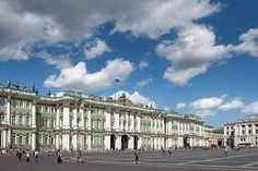 State Hermitage Museum as seen from Palace Square in St.Petersburg, Russia