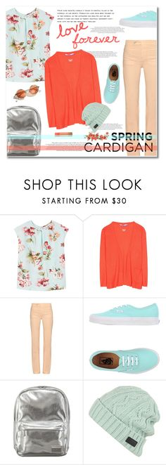 """spring cardigan"" by limass ❤ liked on Polyvore featuring MANGO, Dear Cashmere, See by Chloé, Vans, Pantone, Yea.Nice, cutecardigan and springlayers"