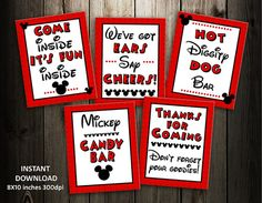 mickey mouse  birthday sign INSTANT DOWNLOAD 8x10  by mariagala44, $9.99