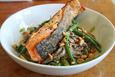 Salmon with Soba Noodles and Tahini Dressing