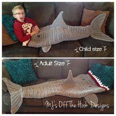 Shark Blanket Crochet Pattern - Free Patterns on our site