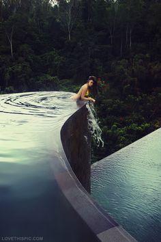 Infinity Pool/rock climbing wall. Jacuzzi to pool