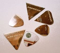 How to Make Plastic Guitar Picks Why not customise your own with loving messages? #CraftCultureCo #Love #DIY #Gifts #Homemade