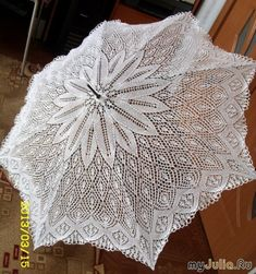 Зонт спицами. Красота! Form Crochet, Filet Crochet, Crochet Doilies, Crochet Lace, Lace Umbrella, Lace Parasol, Lace Patterns, Knitting Patterns, Crochet Patterns