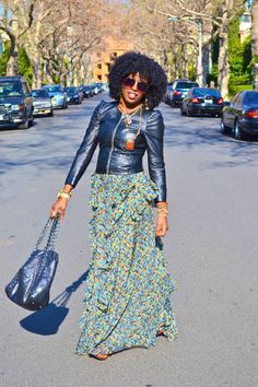 Google Image Result for http://images3.chictopia.com/photos/StylePantry/6385310340/olive-green-ruffle-maxi-dress-black-puff-sleeve-leather-jacket_400.jpg