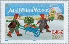 Stamp: Happy New Year (regular gum) (France) (Christmas and Newyear) Yt:FR 3438,Mi:FR 3573,Sn:FR 2844,AFA:FR 3666