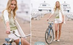 This outfit is so cute! Love sweaters with shorts. Ruche Look Book