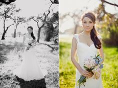 love the flowers. love the dress. what a beautiful bride!