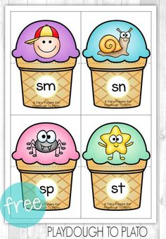 Teach Your Child to Read - Free Blends Ice-Cream Puzzles. Fun guided reading activity or word work center! - Give Your Child a Head Start, and.Pave the Way for a Bright, Successful Future. Kindergarten Centers, Kindergarten Reading, Teaching Reading, Reading Fluency, Preschool Kindergarten, Phonics Blends, Blends And Digraphs, Guided Reading Activities, Phonics Activities