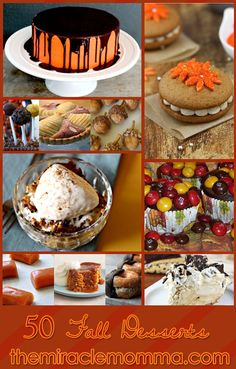 50 Fall Desserts - Holy God, please help me.  This is for all of my NON-grain-free followers.