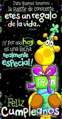 Muchas felicidades. Que Dios te bendiga y te de muchos años más disfruta este hermoso día de cumpleaños un abrazote Free Happy Birthday Cards, Happy 15th Birthday, Happy Birthday Messages, Birthday Images, Friend Birthday, Birthday Quotes, Beautiful Day Quotes, Happy Anniversary Quotes, Happy B Day