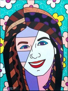 Katie 48x36 2003 by Romero Britto