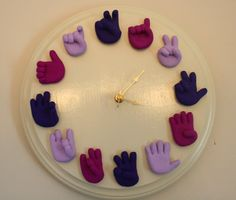 American Sign Language Clock- oh my gosh I love this! I have to make this for my first classroom!