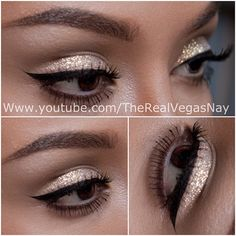 Steps/tutorial of this exact glitter lk ✨ on my YouTube channel; link on my ig page. I'll be filming another tutorial and would like to know what u guys would like to see next  Goodnight loves - @vegas_nay- #webstagram