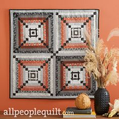 Fall Sewing Projects, Halloween Projects, Mini Quilts, Baby Quilts, Easy Hand Quilting, Nautical Quilt, Log Cabin Quilt Pattern, Winter Quilts, Quilted Wall Hangings
