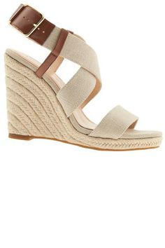 Shop 5 pairs of espadrille wedge sandals under $100 for summer 2015.