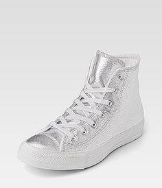 converse silver high tops