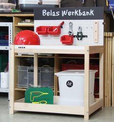 Bau aus dem SNIGLAR Wickeltisch eine Kinder-Werkbank.