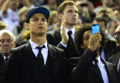 Cristiano Ronaldo  Marcelo Vieira sit-out the Copa del Rey match between Barcelona  Real Madrid ... but is that a selfie???
