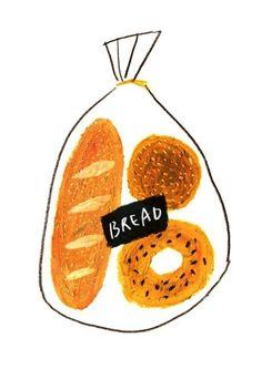 53 Ideas for bread illustration design art Art And Illustration, Illustration Inspiration, Food Illustrations, Ideas Scrapbook, No Bad Days, Food Drawing, Grafik Design, Food Art, Art Inspo