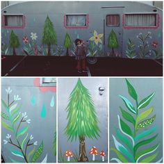 look at the beauty that @katieisadaisy created on the backside of our trailer! oh we are in love!!! and now there's even a few mountainy main trees just for Donny. :)