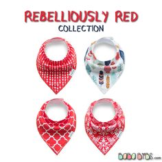 Bandana Bibs - Rebelliously Red Collection baby dribble bibs by BabaBibs
