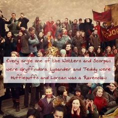 Every single one of the Wotters and Scorpius were Gryffindors. Lysander and…
